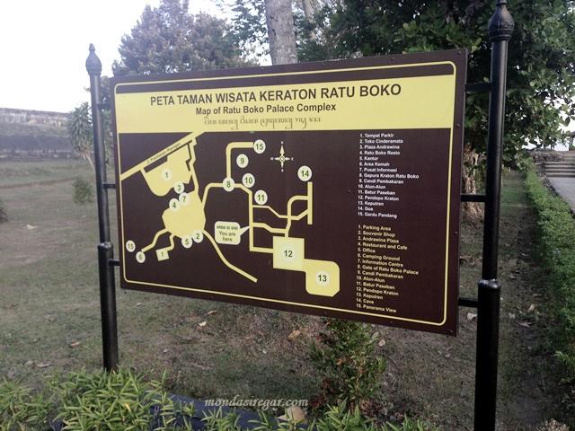 peta keraton ratu boko